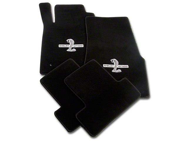 Lloyd Front and Rear Floor Mats with Shelby GT500 Logo; Black (05-10 All)