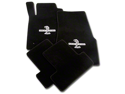 Lloyd Front & Rear Floor Mats w/ Shelby GT500 Logo - Black (05-10 All)