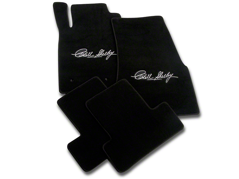 Lloyd Front & Rear Floor Mats w/ Carroll Shelby Signature - Black (05-10 All)
