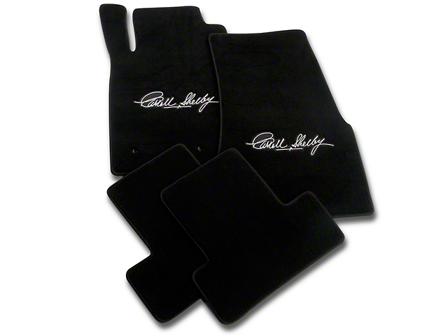 Lloyd Front and Rear Floor Mats with Carroll Shelby Signature; Black (05-10 All)