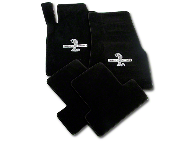 Lloyd Front and Rear Floor Mats with Shelby GT500 Logo; Black (11-12 All)
