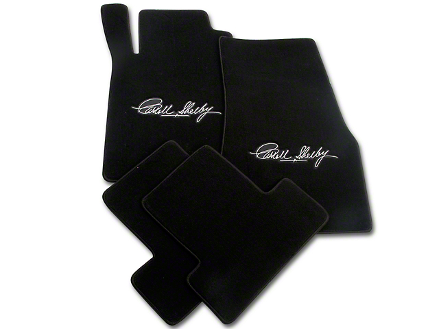 Lloyd Front & Rear Floor Mats w/ Carroll Shelby Signature - Black (11-12 All)