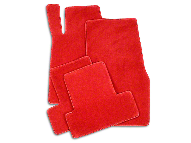 Lloyd Front and Rear Floor Mats; Red (11-12 All)