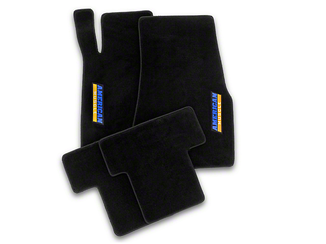 Alterum Front and Rear Floor Mats with AmericanMuscle Logo; Black (11-12 All)
