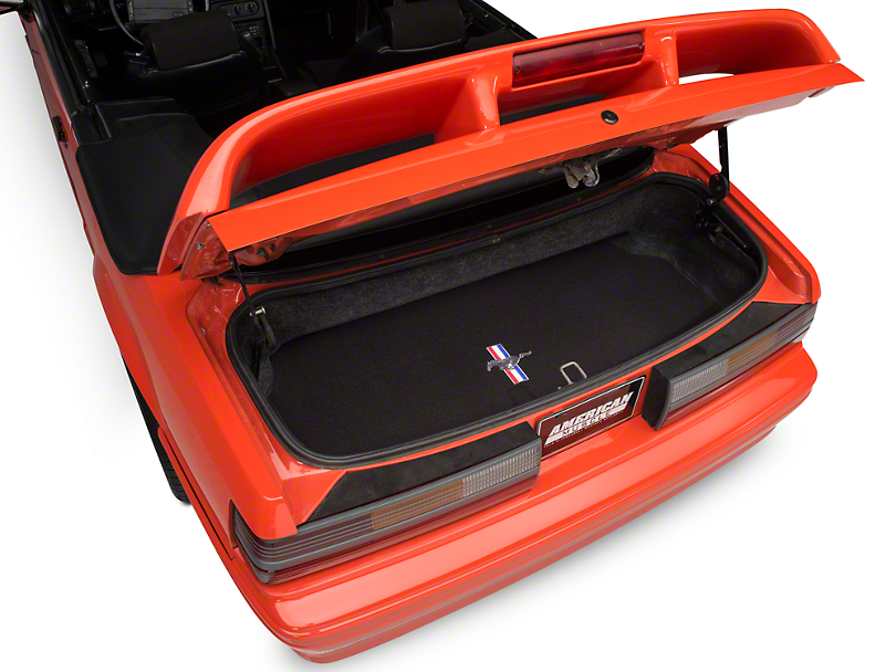 Lloyd Trunk Mat with Tri-Bar Pony Logo; Black (87-93 All)