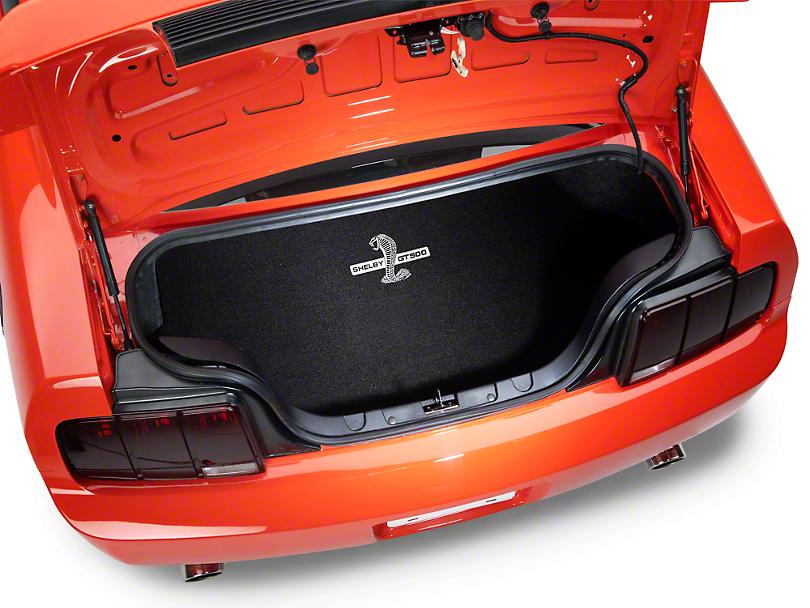 Lloyd Trunk Mat with Shelby GT500 Logo; Black (2007 All)