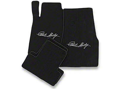 Lloyd Front & Rear Floor Mats w/ Carroll Shelby Signature - Black (13-14 All)
