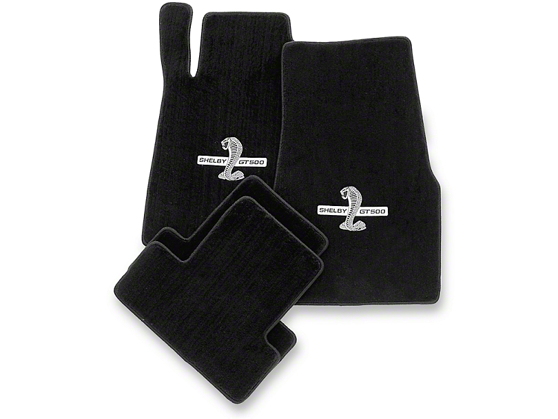 Lloyd Front and Rear Floor Mats with Shelby GT500 Logo; Black (13-14 All)