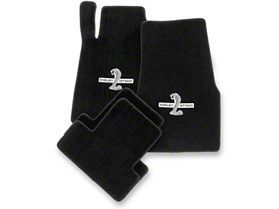 Lloyd Front & Rear Floor Mats w/ Shelby GT500 Logo - Black (13-14 All)