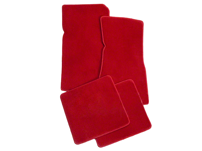 Lloyd Front and Rear Floor Mats; Red (79-93 All)