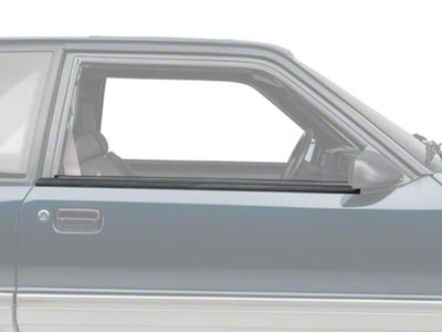 Add OPR Exterior Door Window Belt Molding Trim - Coupe, Hatchback (87-93 All)
