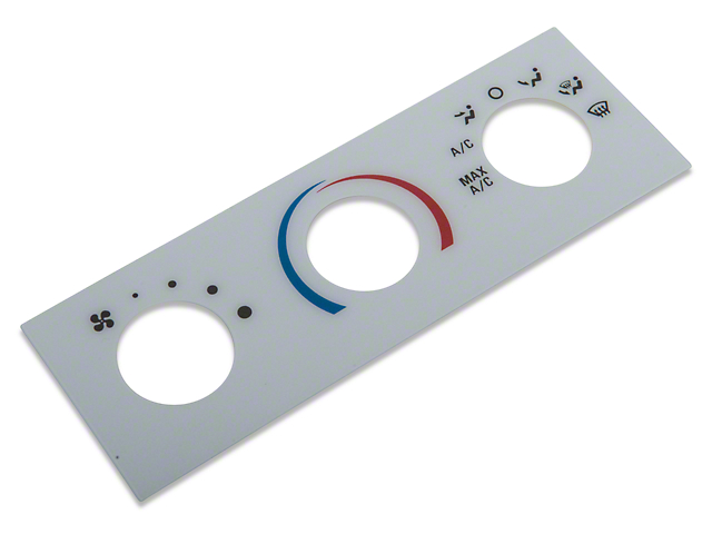 A/C Gauge Insert; White Face (01-04 All)