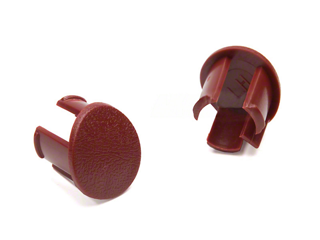 OPR Arm Rest Pad Plugs - Red (87-93 All)