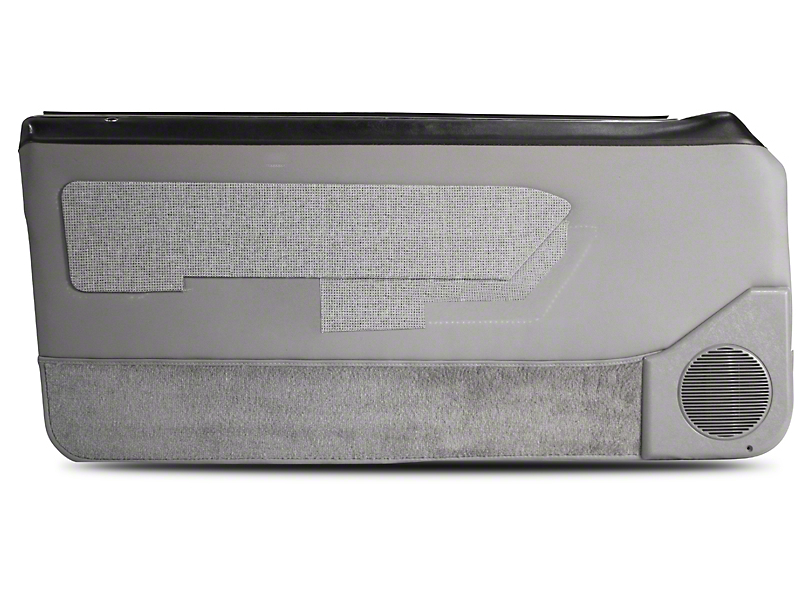 OPR Door Panels with Power Windows and Carpeting; Titanium Gray (87-93 Coupe, Hatchback)