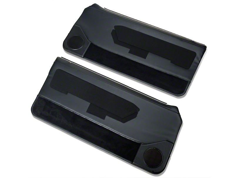 OPR Door Panels with Power Windows and Carpeting; Black (87-93 Coupe, Hatchback)