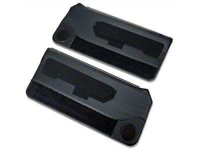 OPR Door Panels w/ Power Windows & Carpeting - Black (87-93 Coupe, Hatchback)