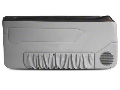 OPR Door Panels w/ Power Windows & Map Pockets - Titanium Gray (87-93 Coupe Hatchback)