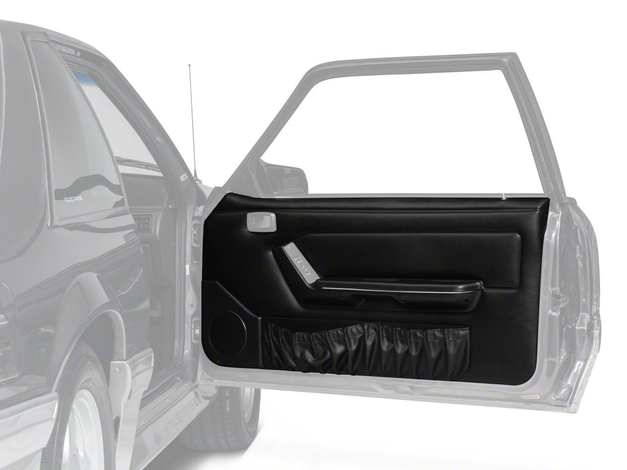 OPR Door Panels w/ Power Windows & Map Pockets - Black (87-93 Coupe, Hatchback)
