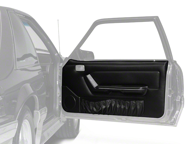 OPR Door Panels with Power Windows and Map Pockets; Black (87-93 Coupe, Hatchback)