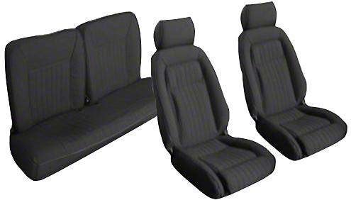 OPR Black Front & Rear Sport Seat Upholstery (87-89 Hatchback)