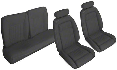 OPR Black Front & Rear Sport Seat Upholstery (90-91 Hatchback)