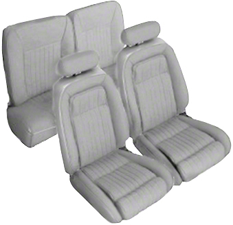 OPR Titanium Gray Front & Rear Sport Seat Upholstery (92-93 Hatchback)