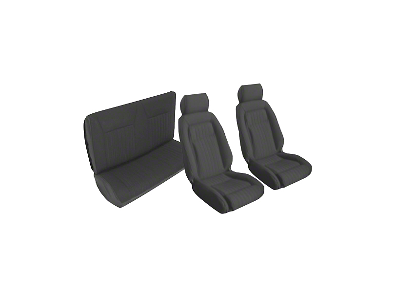 OPR Black Front & Rear Sport Seat Upholstery (87-89 Convertible)