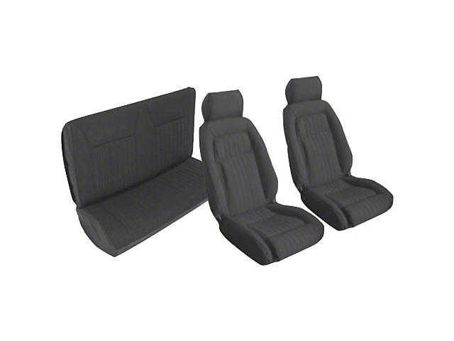 OPR Front and Rear Sport Seat Upholstery; Black (87-89 Convertible)