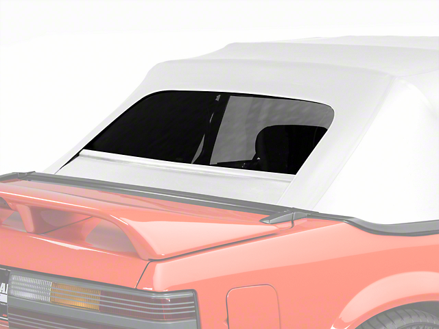 OPR Replacement Convertible Rear Window Glass; White (83-93 Convertible)