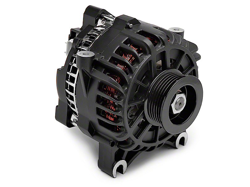 PA Performance Alternator - 130 Amp Flat Black (05-08 GT)