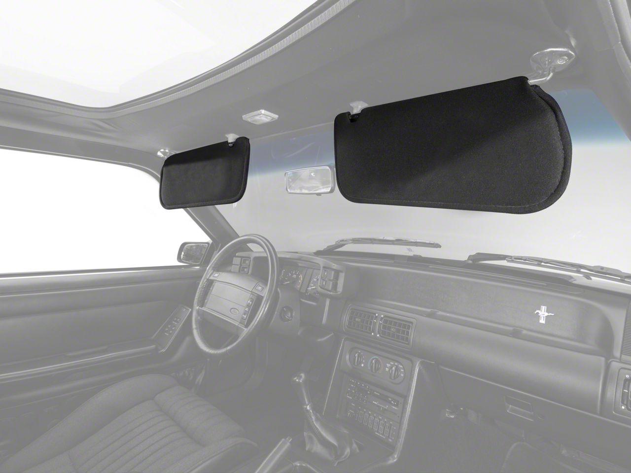 OPR Cloth Sun Visors - Black (83-93 Coupe, Hatchback)