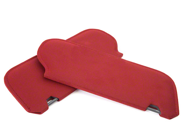 OPR Cloth Sun Visors - Scarlet Red (83-93 Coupe, Hatchback)