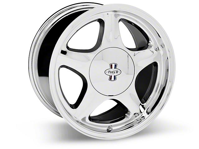 Chrome Pony R Wheel; 17x10 (87-93; Excludes 93 Cobra)