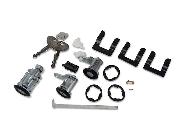 OPR Lock Set; Black (87-93 All)