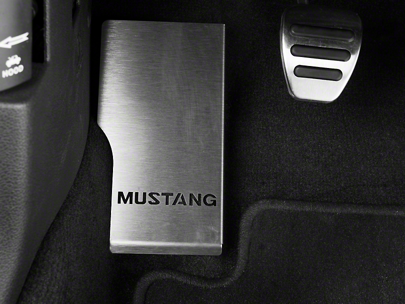 Dead Pedal Cover - Mustang Logo (05-14 All)