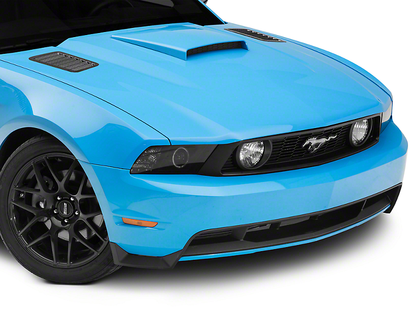 Mustang Black Mamba Hood Vents 45 Degree Carbon Fiber