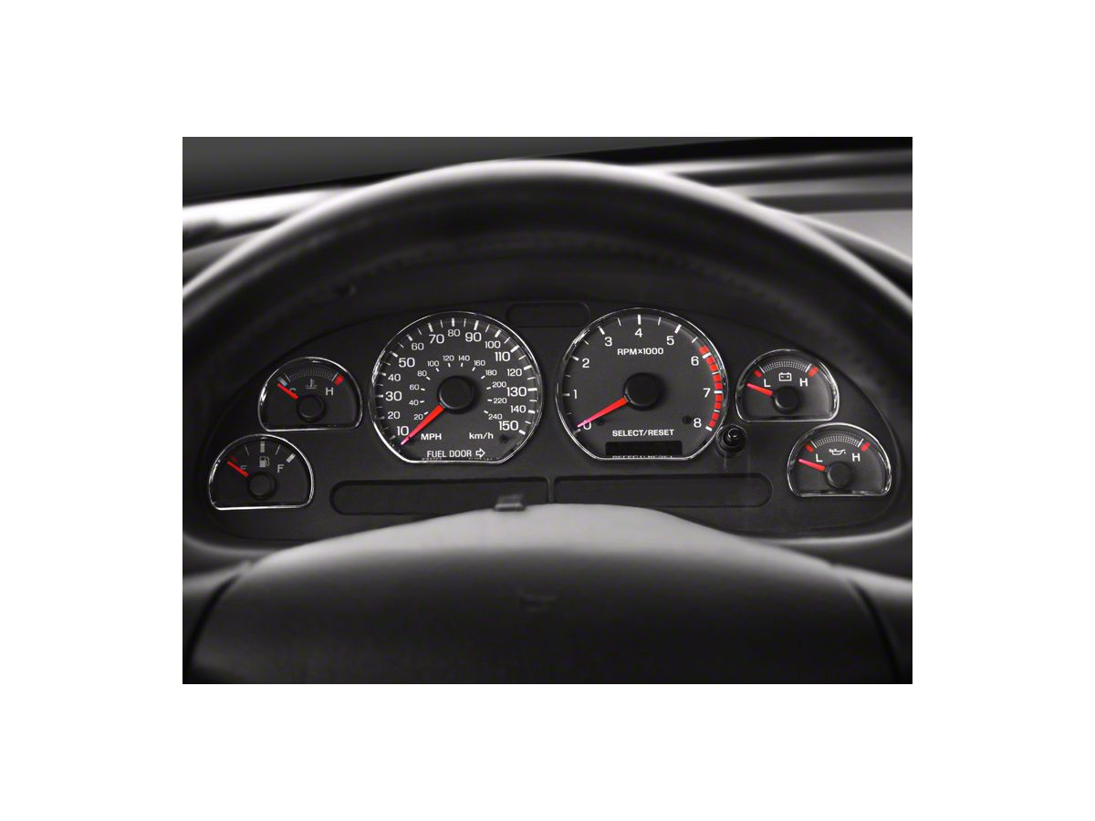 Car Interior Dashboard Deocration Ring Cover Trim ABS For 2015 Ford Mustang ch