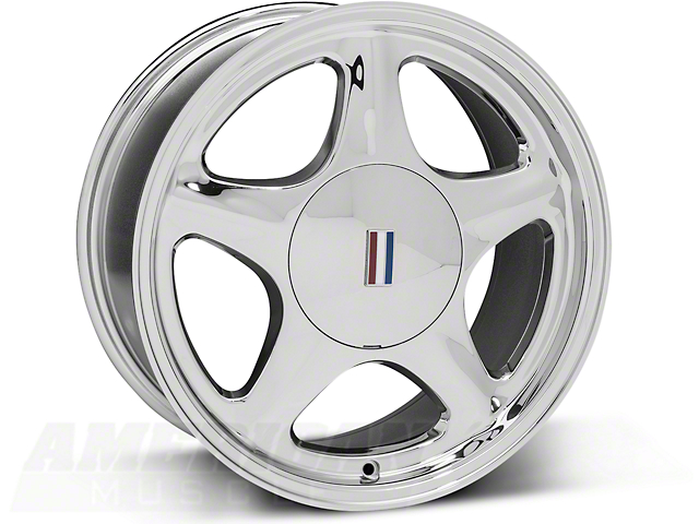 Chrome Pony Wheel - 5 Lug - 17x8 (87-93; Excludes 93 Cobra)