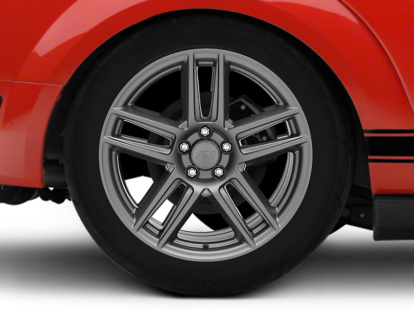 Laguna Seca Style Charcoal Wheel - 19x10 - Rear Only (05-14 All)