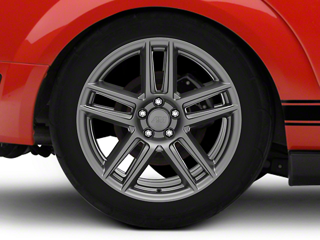 Laguna Seca Style Charcoal Wheel; Rear Only; 19x10 (05-09 All)