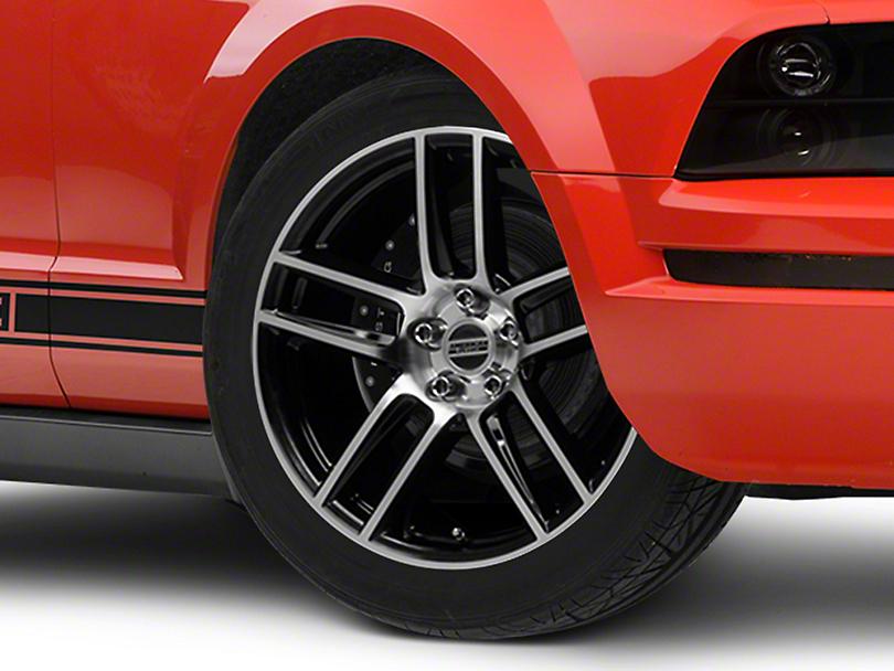 Laguna Seca Style Black Machined Wheel - 19x9 (05-14 All)