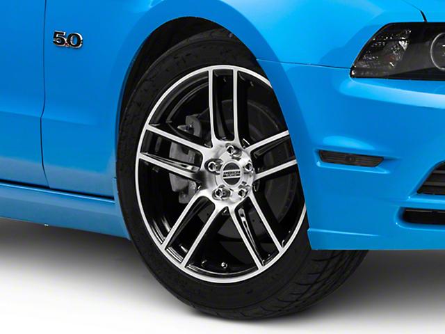 Laguna Seca Style Black Machined Wheel; 19x9 (10-14 All)