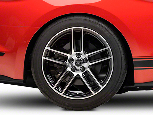 Laguna Seca Style Black Machined Wheel; Rear Only; 19x10 (15-20 GT, EcoBoost, V6)