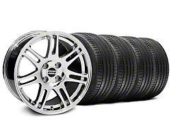 10th Anniversary Cobra Style Chrome Wheel and Sumitomo Maximum Performance HTR Z5 Tire Kit; 17x9 (87-93 All, Excluding Cobra)