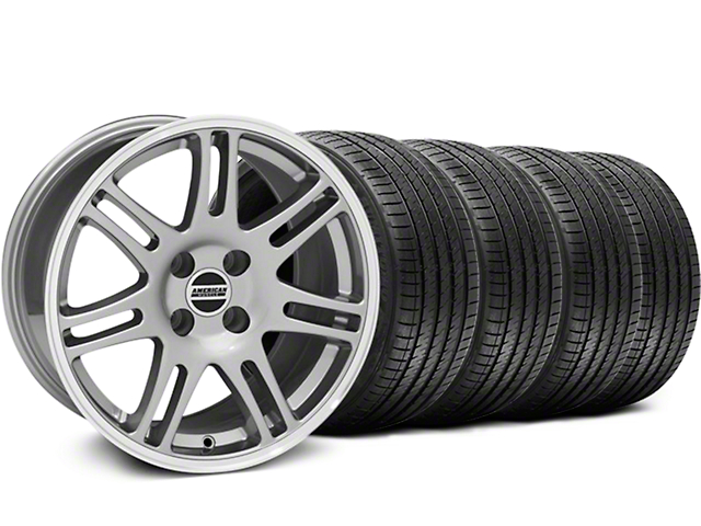 10th Anniversary Cobra Style Anthracite Wheel & Sumitomo Tire Kit - 17x9 (87-93 All, Excluding Cobra)