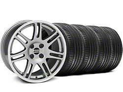 10th Anniversary Cobra Style Anthracite Wheel and Sumitomo Maximum Performance HTR Z5 Tire Kit; 17x9 (87-93 All, Excluding Cobra)