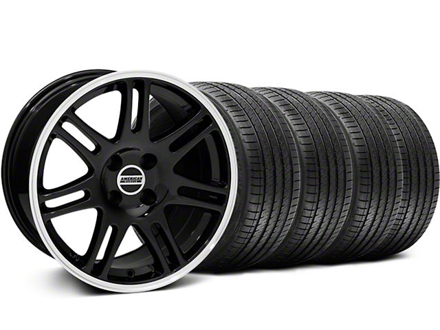 10th Anniversary Cobra Style Black Wheel and Sumitomo Maximum Performance HTR Z5 Tire Kit; 17x9 (87-93 All, Excluding Cobra)