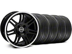 10th Anniversary Cobra Style Black Wheel and Sumitomo Maximum Performance HTR Z5 Tire Kit; 17x9 (87-93 All, Excluding Cobra)