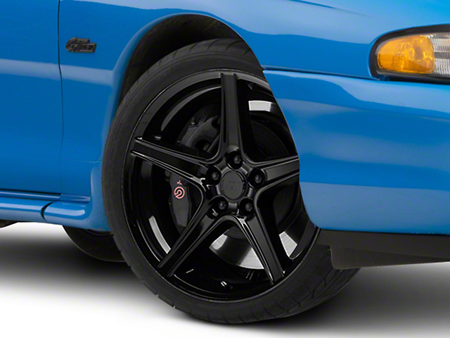 Saleen Style Black Wheel; 19x8.5 (94-98 All)