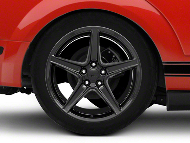 Saleen Style Black Wheel - 19x10 - Rear Only (05-14 GT, V6)